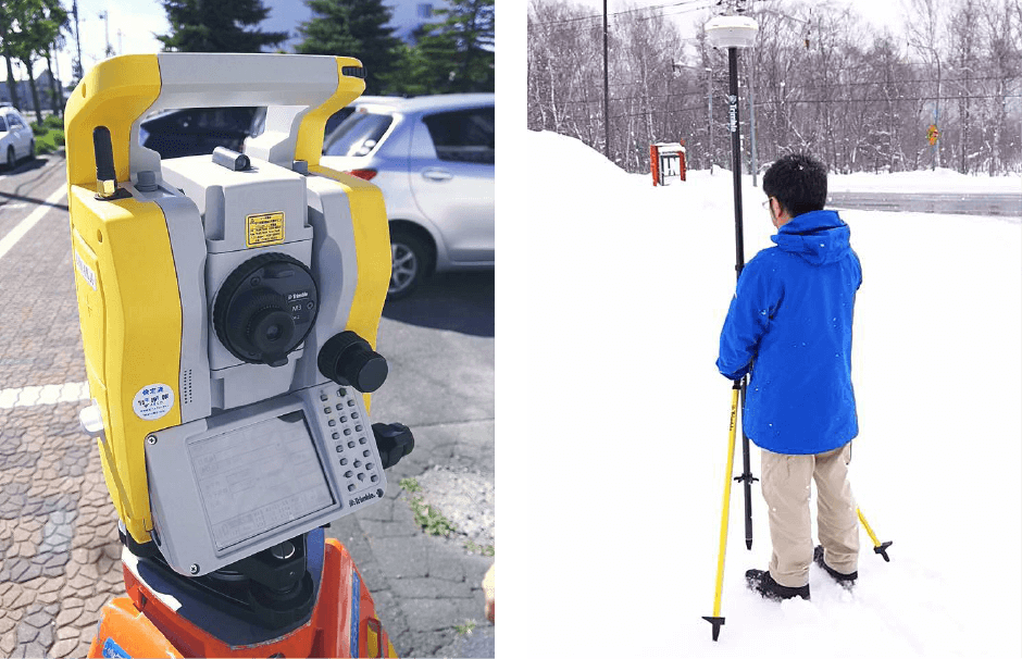測量器具と作業員